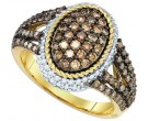 Champagne Brown Diamond Ring 10K Yellow Gold 1.20 cts. GD-81667