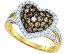 Champagne Brown Diamond Ring 10K Yellow Gold 1.39 cts. GD-81695