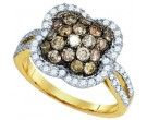 Champagne Brown Diamond Ring 10K Yellow Gold 1.60 cts. GD-81697