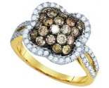 Chocolate Brown Diamond Ring 10K Yellow Gold 1.60 cts. GD-81697