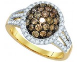 Champagne Brown Diamond Ring 10K Yellow Gold 1.50 cts. GD-81699