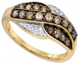 Brown Diamond Fashion Ring 10K Yellow Gold 0.57 cts. GD-81817