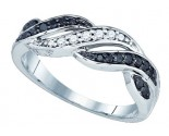 Black Diamond Fashion Ring 10K White Gold 0.26 cts. GD-81835