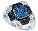Blue Diamond Fashion Ring 10K White Gold 0.95 cts. GD-81963