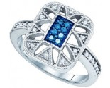 Blue Diamond Fashion Ring 10K White Gold 0.25 cts. GD-81965
