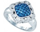 Blue Diamond Fashion Band 10K White Gold 0.50 cts. GD-81987