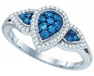 Blue Diamond Fashion Band 10K White Gold 0.45 cts. GD-81989