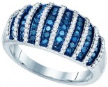 Blue Diamond Fashion Band 10K White Gold 0.75 cts. GD-82006