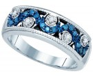 Blue Diamond Fashion Band 10K White Gold 0.25 cts. GD-82012
