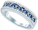 Blue Diamond Fashion Band 10K White Gold 0.33 cts. GD-82019