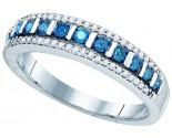 Blue Diamond Fashion Band 10K White Gold 0.35 cts. GD-82020