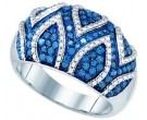 Blue Diamond Fashion Band 10K White Gold 0.85 cts. GD-82027