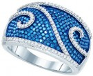 Blue Diamond Fashion Band 10K White Gold 1.00 ct. GD-82030