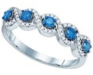 Blue Diamond Fashion Ring 10K White Gold 0.50 cts. GD-82042