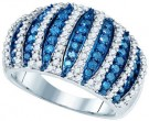 Blue Diamond Fashion Band 10K White Gold 1.61 cts. GD-82046