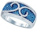 Blue Diamond Fashion Band 10K White Gold 0.79 cts. GD-82049