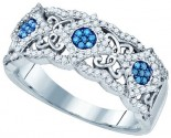 Blue Diamond Fashion Band 10K White Gold 0.40 cts. GD-82202
