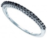 Black Diamond Fashion Ring 10K White Gold 0.25 cts. GD-82313