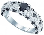 Black Diamond Fashion Ring 10K White Gold 1.00 ct. GD-82315