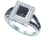Black Diamond Fashion Ring 10K White Gold 0.50 cts. GD-82317