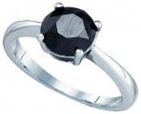 Black Diamond Fashion Ring 10K White Gold 2.08 cts. GD-82323