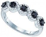 Black Diamond Fashion Ring 10K White Gold 0.50 cts. GD-82337