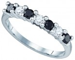 Black Diamond Fashion Ring 10K White Gold 0.50 cts. GD-82533
