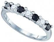 Black Diamond Fashion Ring 10K White Gold 0.50 cts. GD-82533 [GD-82533]