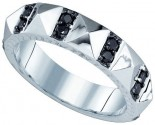 Black Diamond Fashion Ring 10K White Gold 0.45 cts. GD-82537