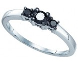 Black Diamond Fashion Ring 10K White Gold 0.27 cts. GD-83143