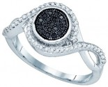 Black Diamond Fashion Ring 10K White Gold 0.20 cts. GD-83145