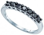 Black Diamond Fashion Ring 10K White Gold 0.50 cts. GD-83287