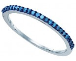 Blue Diamond Fashion Band 10K White Gold 0.21 cts. GD-83290