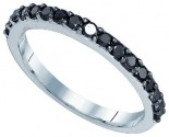 Black Diamond Fashion Band 10K White Gold 0.50 cts. GD-83292