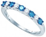 Blue Diamond Fashion Band 10K White Gold 0.48 cts. GD-83305