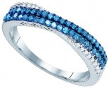 Blue Diamond Fashion Band 10K White Gold 0.42 cts. GD-83391