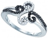 Black Diamond Fashion Ring 10K White Gold 0.19 cts. GD-83393