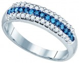 Blue Diamond Fashion Band 10K White Gold 0.39 cts. GD-83408