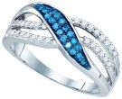 Blue Diamond Fashion Band 10K White Gold 0.36 cts. GD-83409