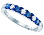 Blue Diamond Fashion Band 10K White Gold 0.46 cts. GD-83498