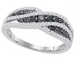 Black Diamond Fashion Ring 10K White Gold 0.58 cts. GD-84576