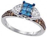 Ladies Diamond Fashion Ring 10K White Gold 0.75 cts. GD-84663