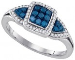 Blue Diamond Fashion Ring 10K White Gold 0.39 cts. GD-85584
