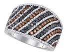Mix Color Diamond Fashion Band 10K White Gold 1.56 cts. GD-85669