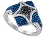 Blue Diamond Fashion Ring 10K White Gold 0.60 cts. GD-85710