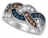 Mix Color Diamond Fashion Band 10K White Gold 0.95 cts. GD-85718