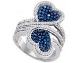 Ladies Diamond Heart Ring 10K White Gold 1.10 cts. GD-85762