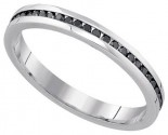 Black Diamond Bridal Ring 10K White Gold 0.27 cts. GD-85768