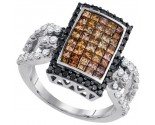 Ladies Diamond Fashion Ring 14K White Gold 2.00 ct. GD-86379