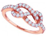 Ladies Diamond Fashion Ring 10K Rose Gold 0.77 cts. GD-86951